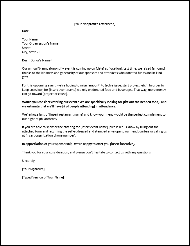 Sponsorship Letters Write Great Proposals With 12