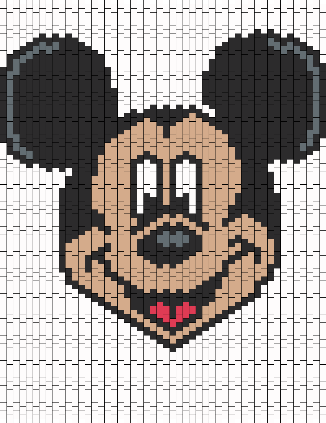 Mickey Mouse bead pattern | Cross Stitch/Characters | Pinterest ...