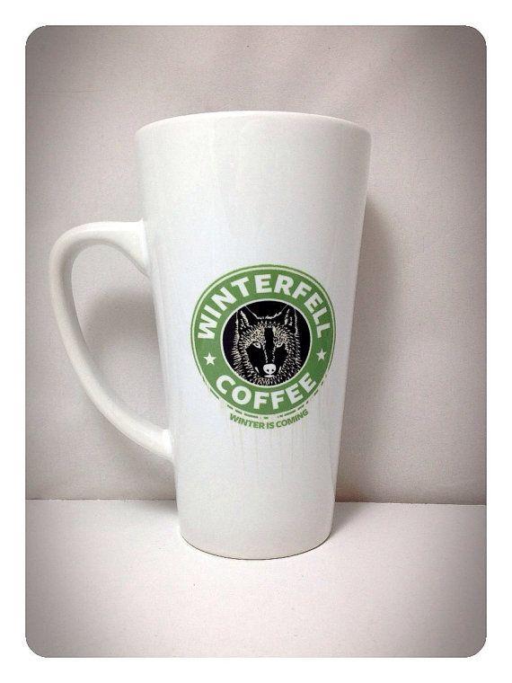 Game of Thrones Mug Latte  Winterfell Coffee por PrettyLittleTragic