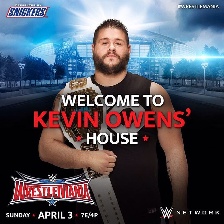 It's a guarantee that #KevinOwens will FIGHT to retain his #ICTitle TONIGHT at #WrestleMania! #WWENetwork