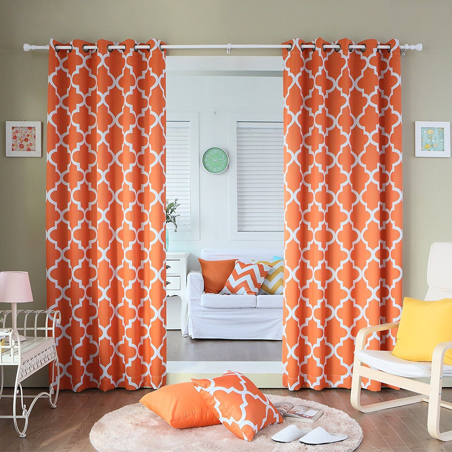 kitchen orange moroccan set curtains length home grey window com of pair curtain boho panels amazon chic paisley dp