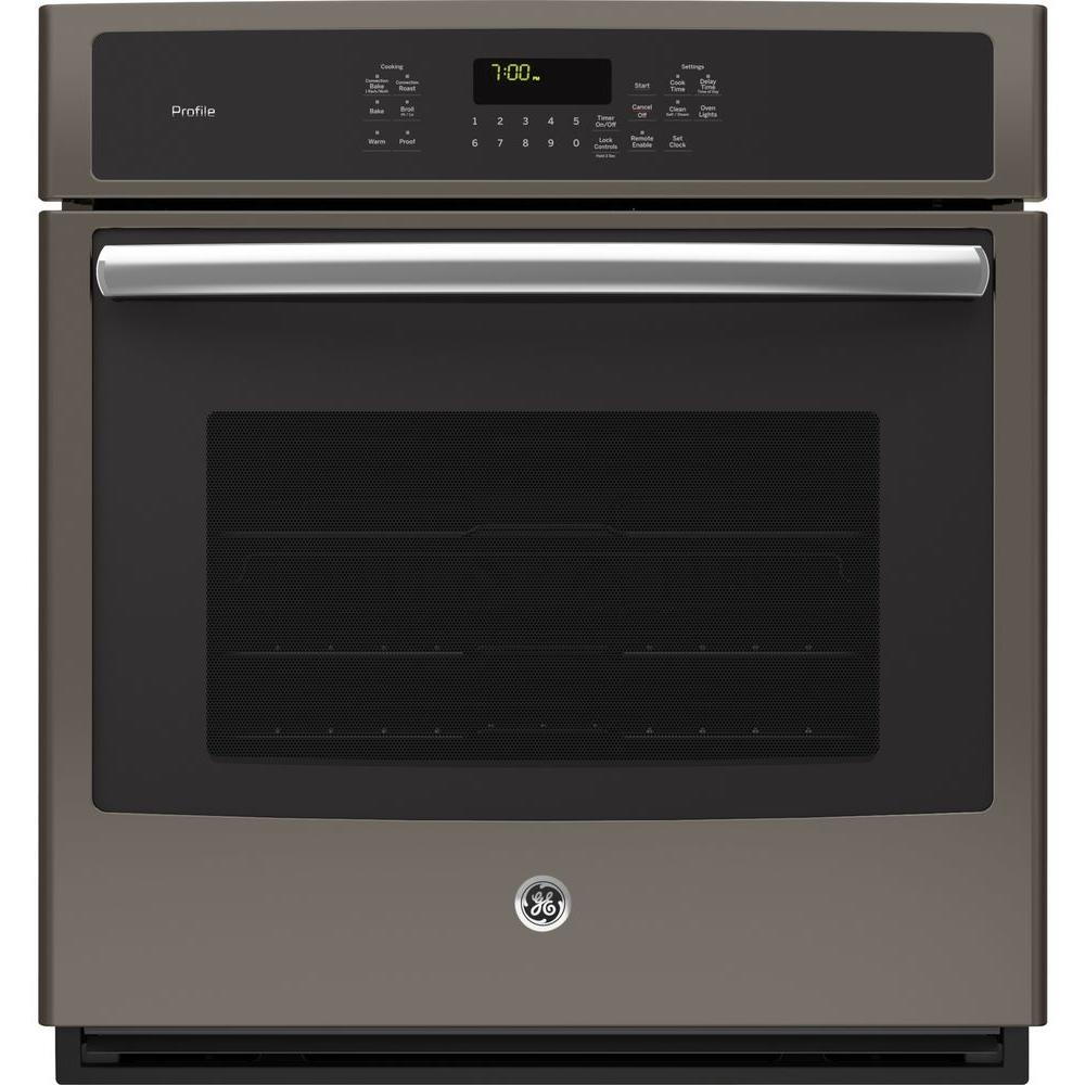 Ge Profile 27 In Single Electric Smart Wall Oven With Convection Self Cleaning And Wi Fi In Black Stainless Steel Pk7000blts Electric Wall Oven Wall Oven Single Wall Oven