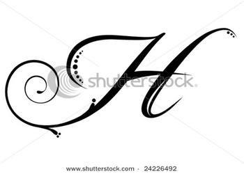 Cursive Letter H