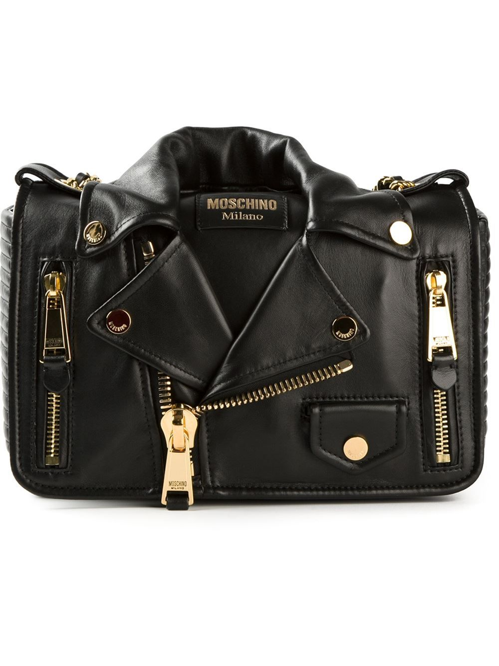 4235bb45d19d0 Women - Moschino Biker Jacket Shoulder Bag - Tessabit.com – Luxury Fashion  For Men and Women: Shipping Worldwide