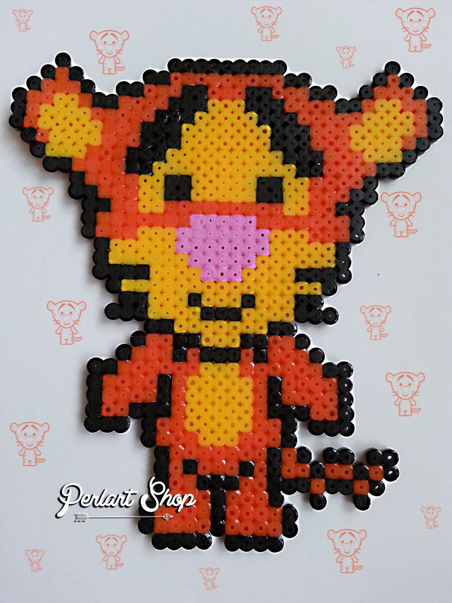 Tigger Hama Perler Beads By Perlart Shop Perler Beads Pinterest