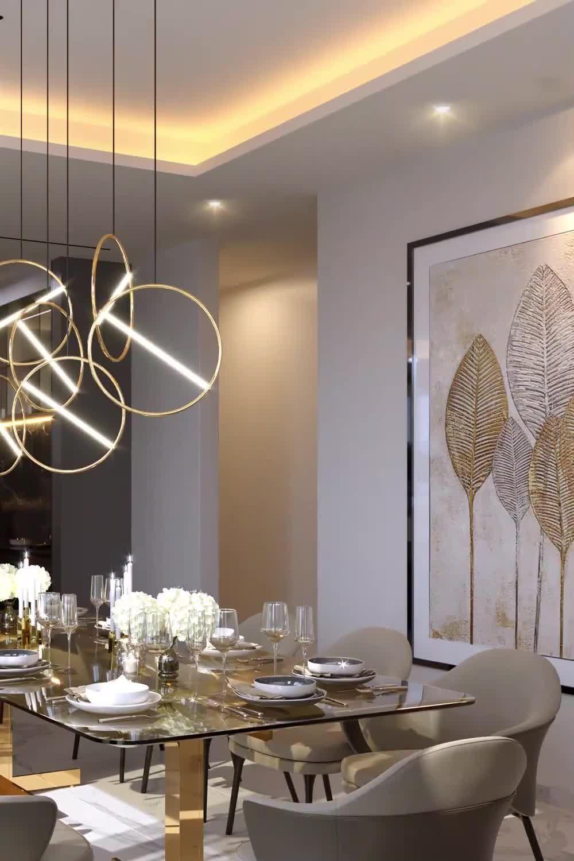 Dream dubai house dining room design from Spazio Interior Decoration