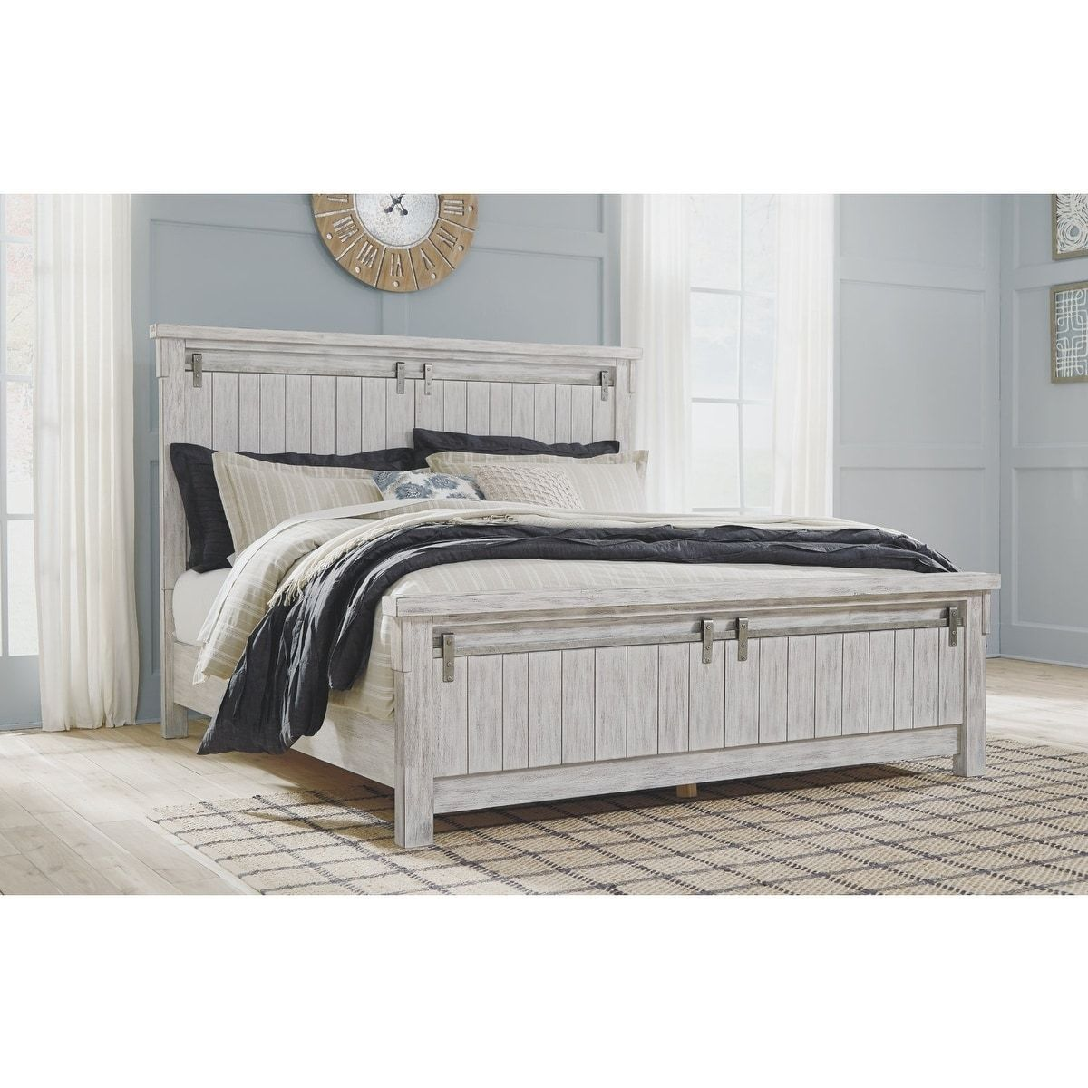 Best Brashland Farmhouse Panel Bed California King White 400 x 300