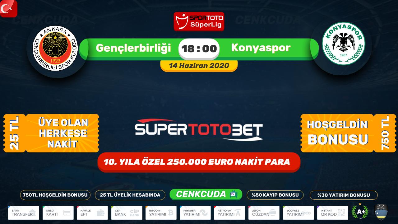 Bein sport şifresiz izle Gençlerbirliği Konyaspor, 2020
