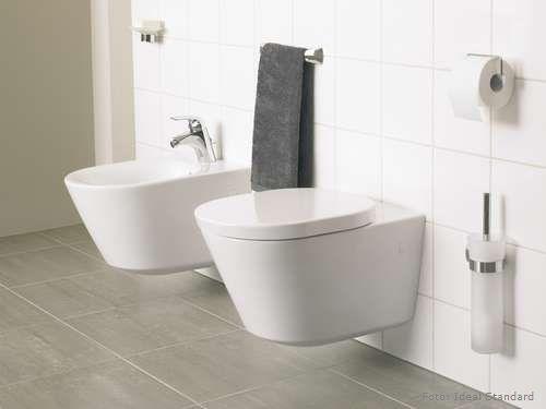 Toilette und Bidet aus der Kollektion Tonic von Ideal Standard sind ...