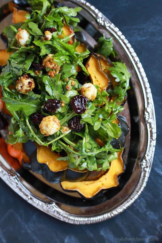 Roasted Acorn Squash With Spicy Arugula Salad Recipe Arugula