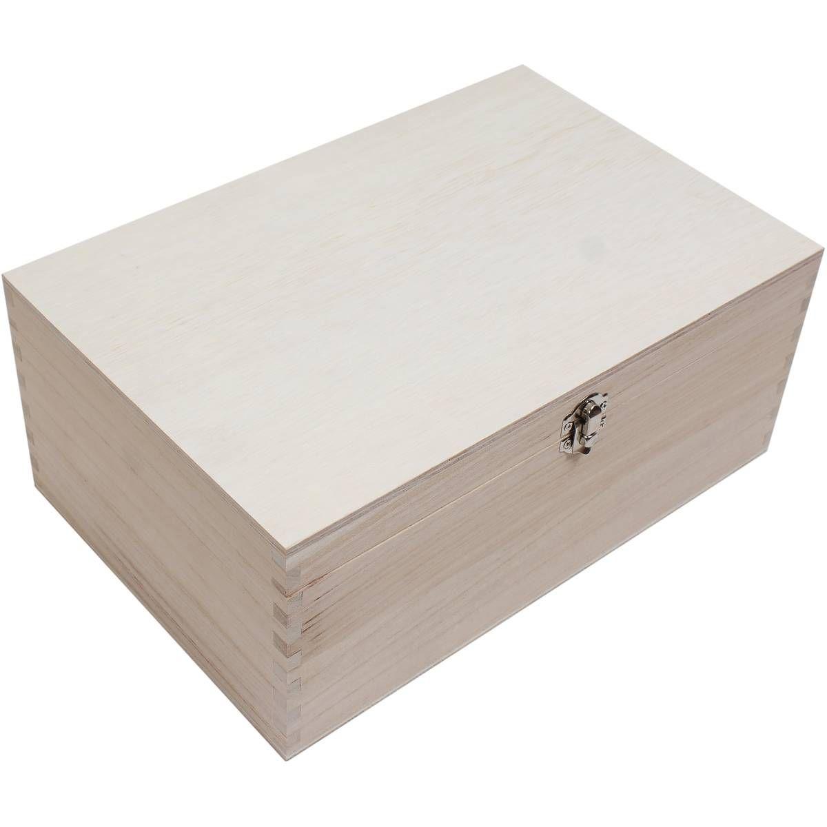 Bon Wooden Storage Box 30 X 20 X 13 Cm | Hobbycraft