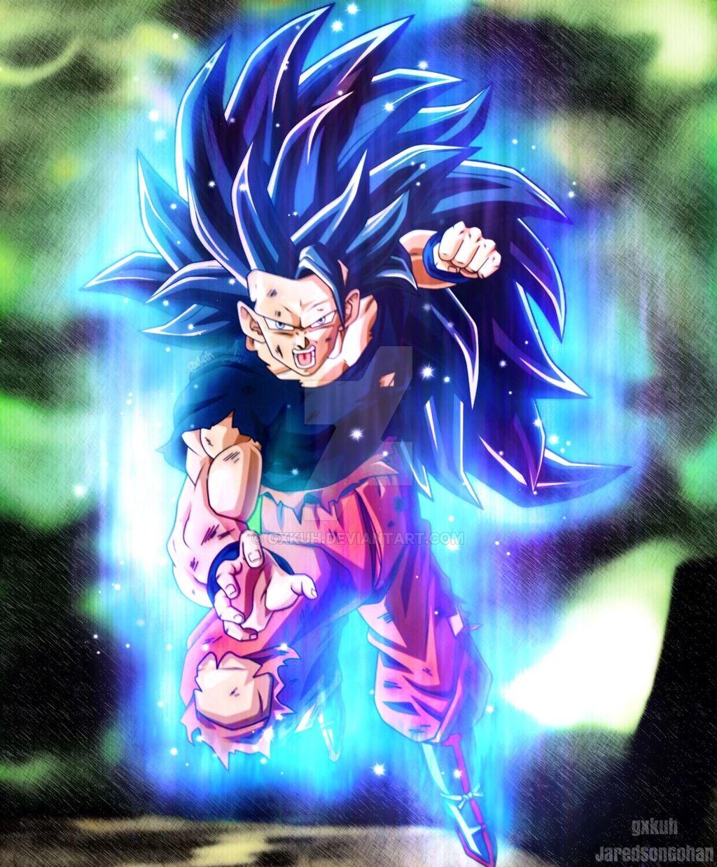 Ssj3 Goku (Ultra Instinct) by gxkuh | Dbz | Dragon ball