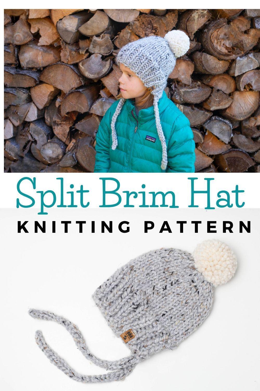 Split Brim Hat Knitting Pattern Baby Children Women