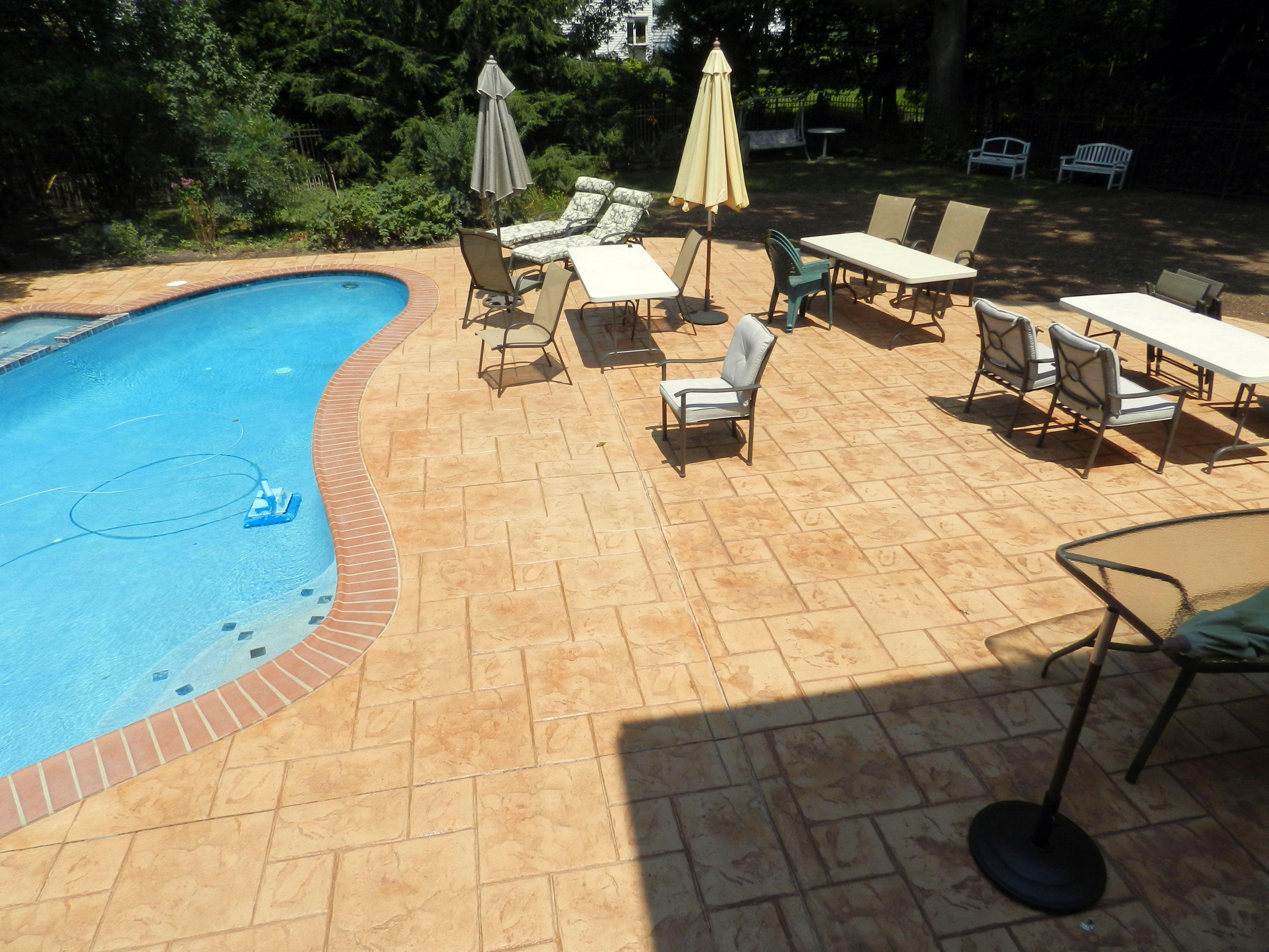 Stamped Concrete Pool Deck - Opa Locka Pattern. | Stamped Concrete ...