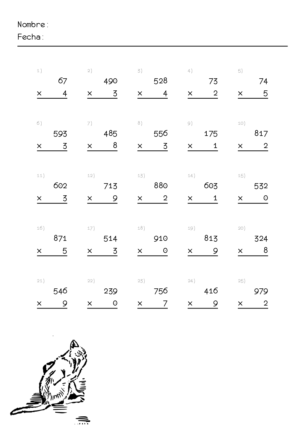Resultado de imagen para ejercicios de division de 3er grado ...