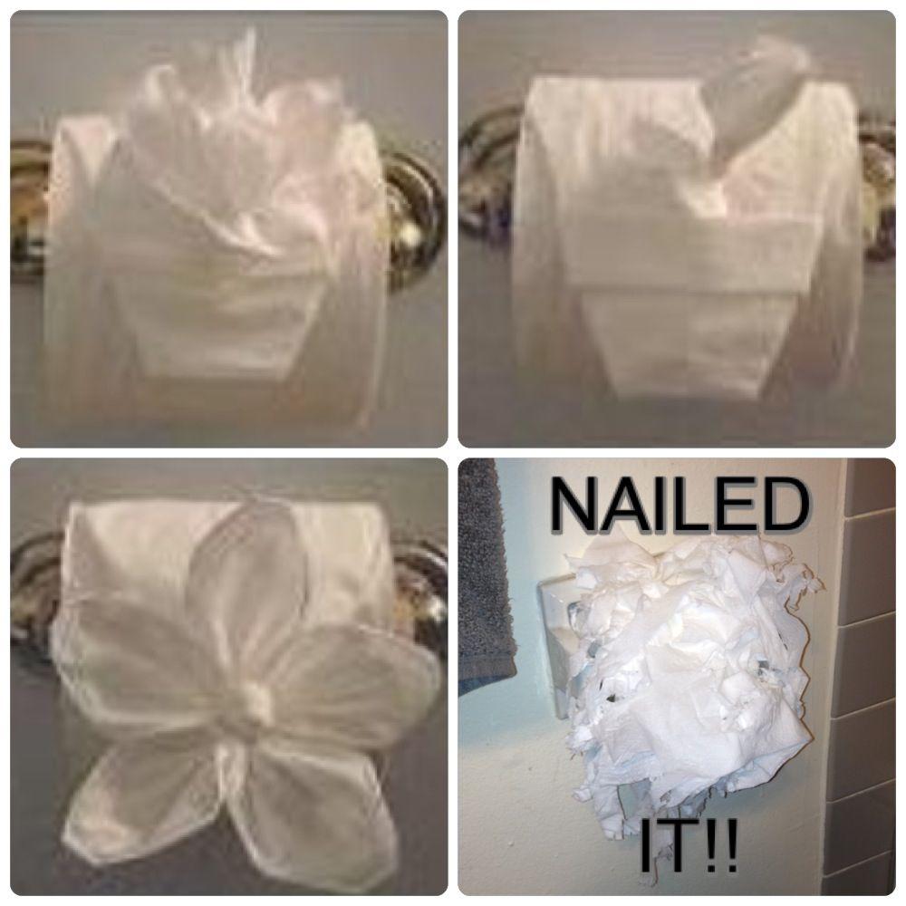Fancy Folded Toilet Paper Tutorial On Pinterest Meet My