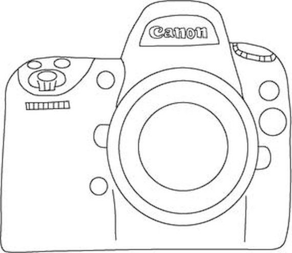 canon camera embroidery pattern