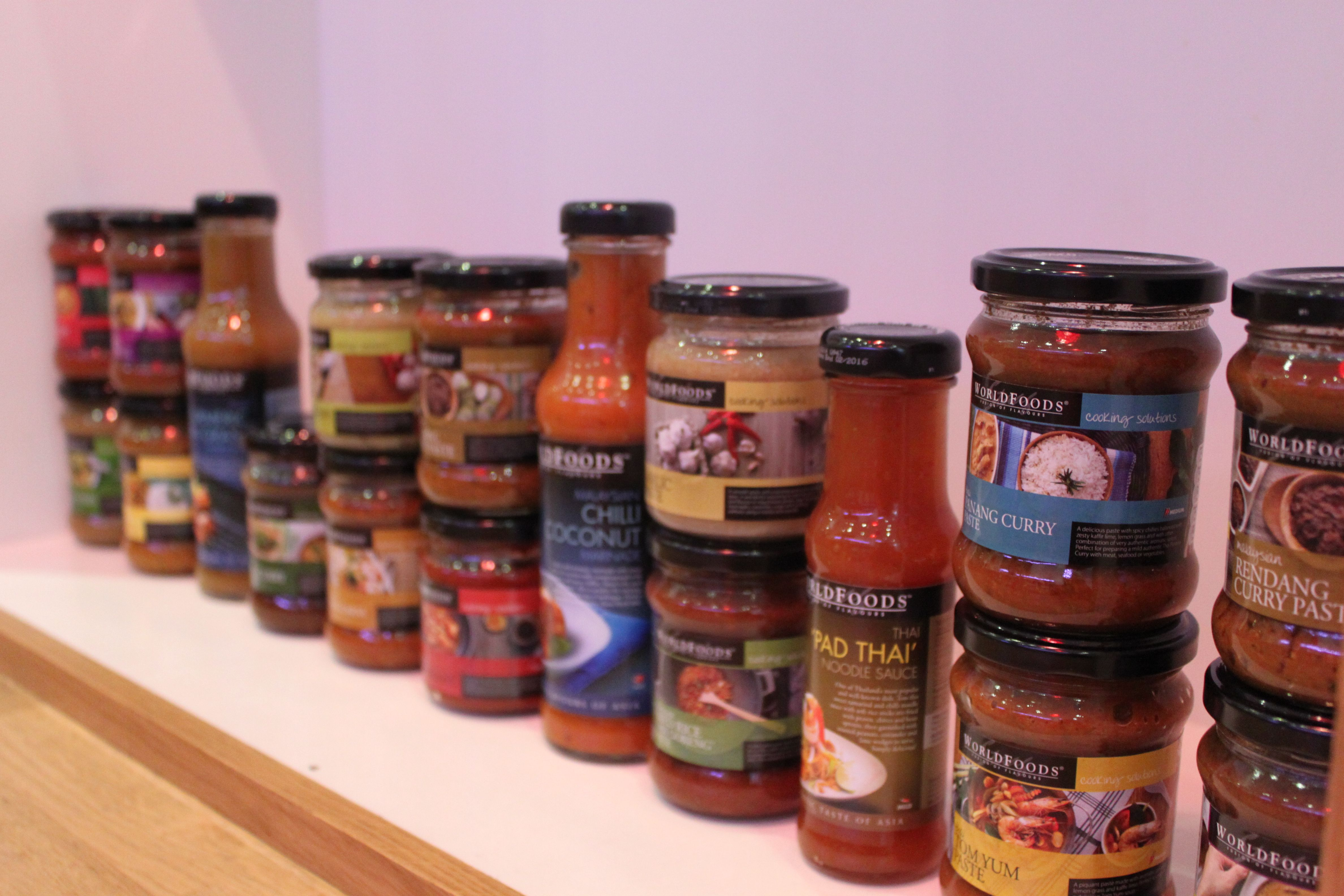 Our WORLDFOODS sauces ready to go!
