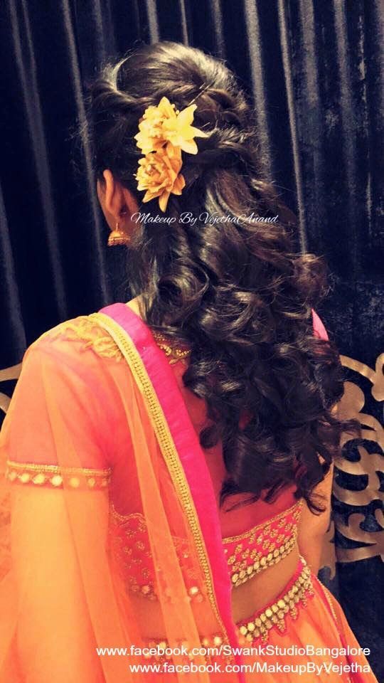 Pin By Asha Latha On Bridal Reception Hair Styles In 2019