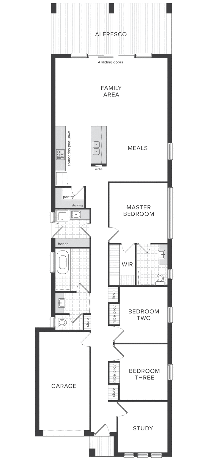 Australian Home Builders New Home Designs House Land Packages Narrow House Designs Small House Plans Floor Plans