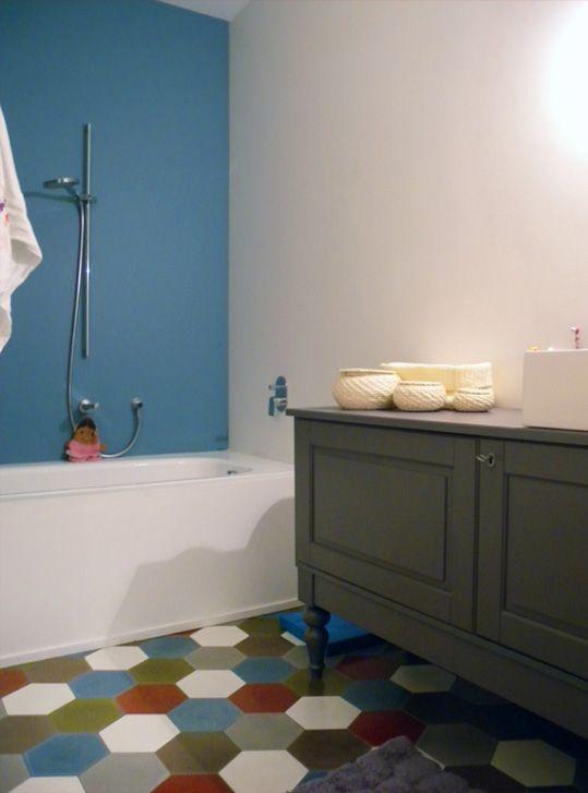 Guide déco carrelage salle de bain - Tendance - Couleurs  Matières - Repeindre Du Carrelage De Salle De Bain