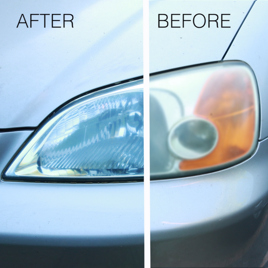 Dirty Car Headlights Are No Match For This Clever
