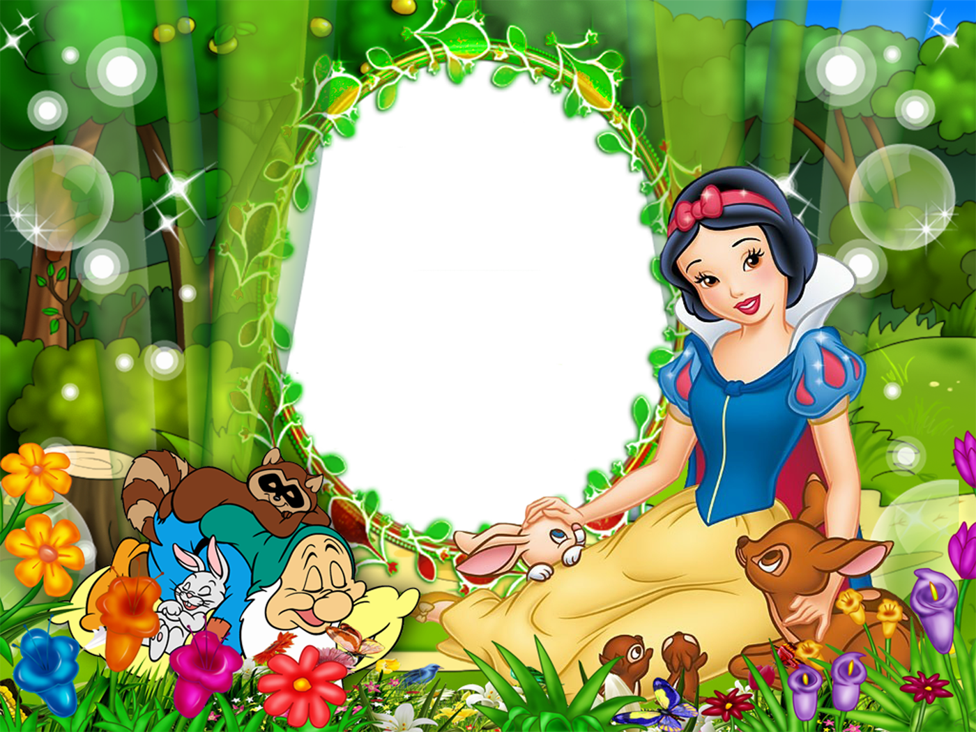 Cute Snow White Kids Transparen Png Photo Frame Gallery Yopriceville High Quality Images And Transparent Snow White Disney Frames Disney Princess Pictures