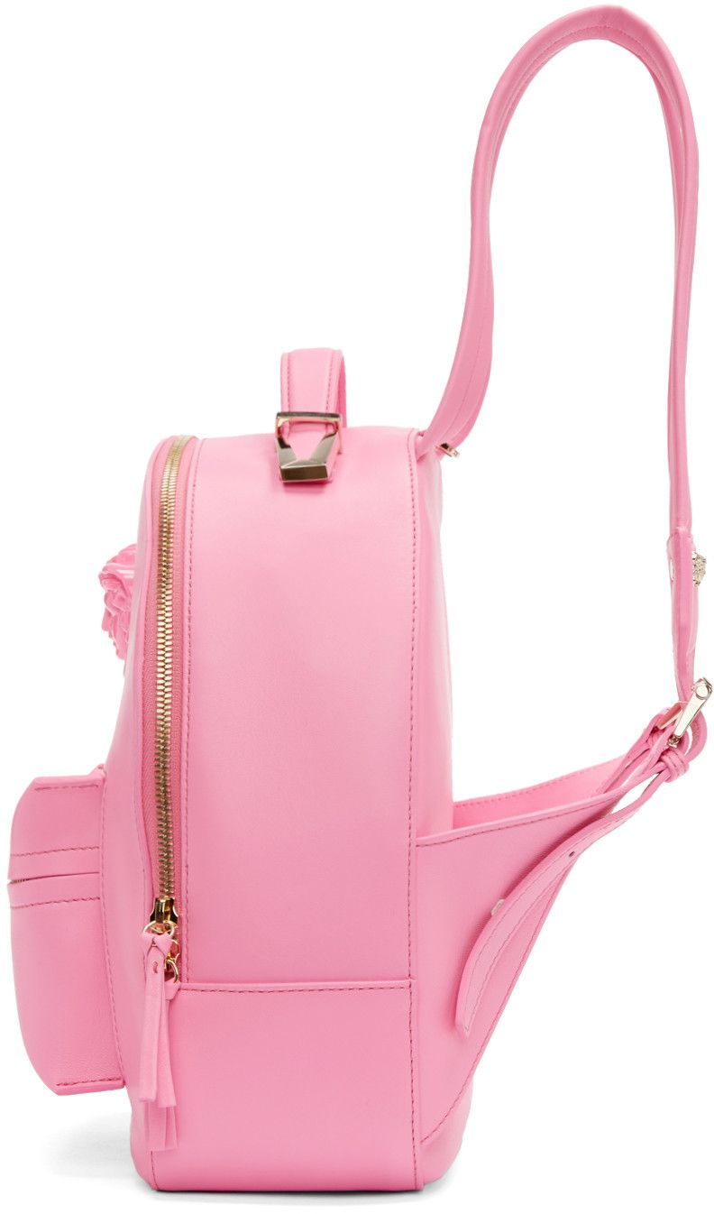 12bceaef Versace - Pink Leather Medusa Backpack | pastel in 2019 | Versace ...