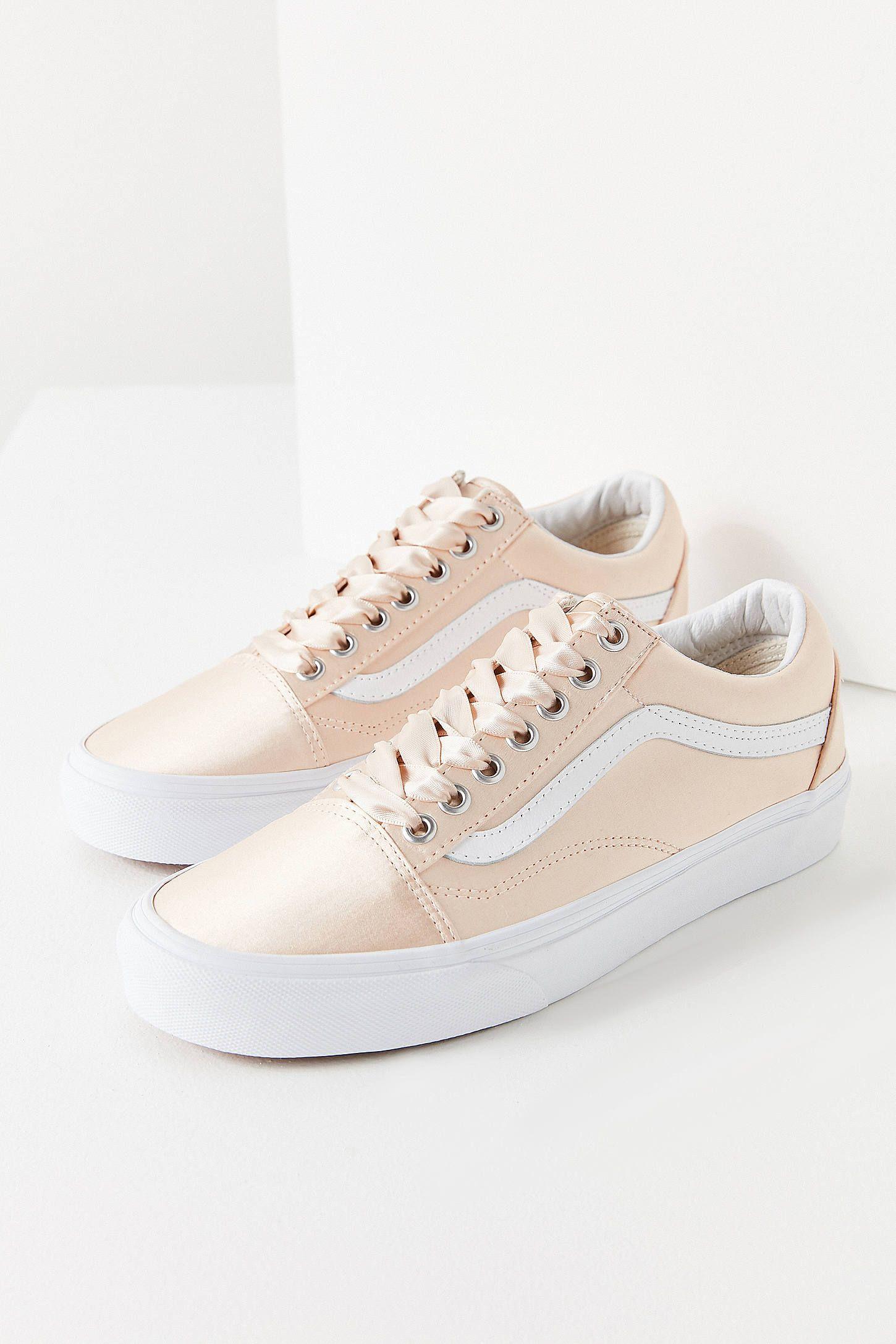 vans pink satin lux old skool sneaker