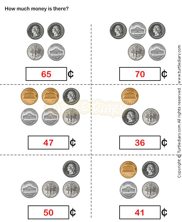 Großartig Math Münze Arbeitsblatt Bilder - Mathematik & Geometrie ...