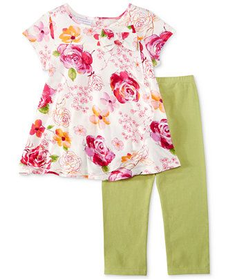 First Impressions  Floral Top /& Leggings Baby Girls/' 2-Piece Set