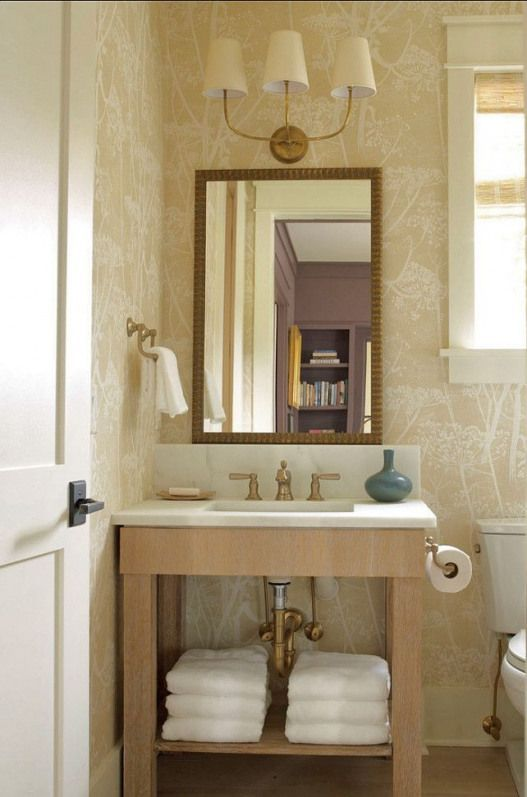 Photo of Powder Room. Great Powder Room Ideas. #PowderRoom Sconces are Vendome Triple Sconce #bathr…
