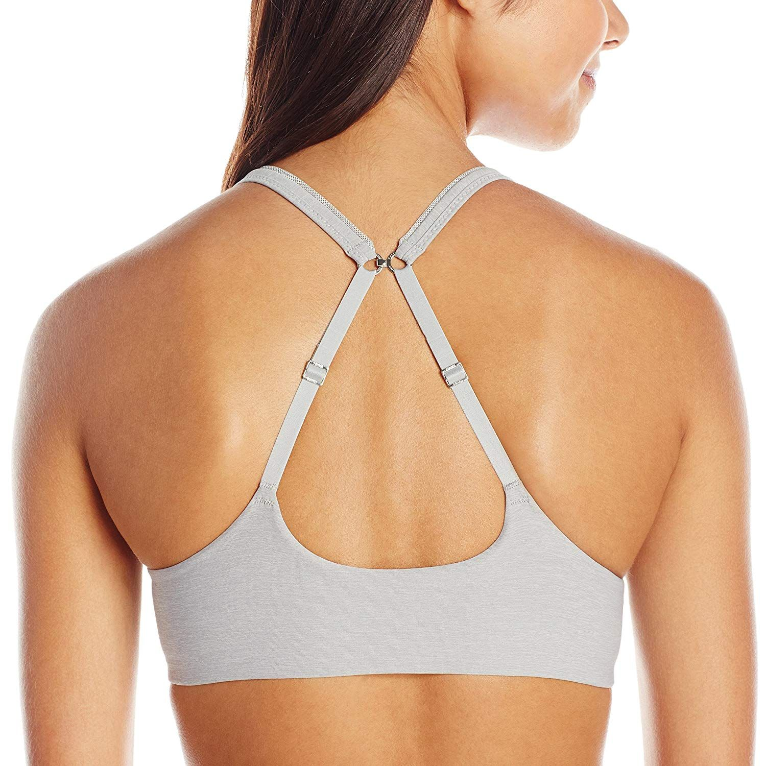 e018ebbf2e Hanes Ultimate ComfortBlend T-Shirt Front-Close Bra (HU01) at Amazon  Women s Clothing store