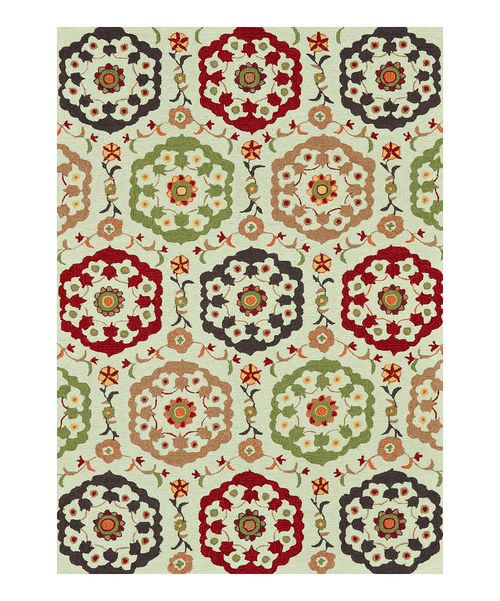 Look at this Beige Multi Francesca Rug on #zulily today!