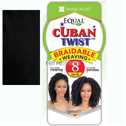 "Thu Dec 3, 2015 - #8: Equal (SNG) Cuban Twist Weaving 8"" - Color 1 - Synthetic Weaving"