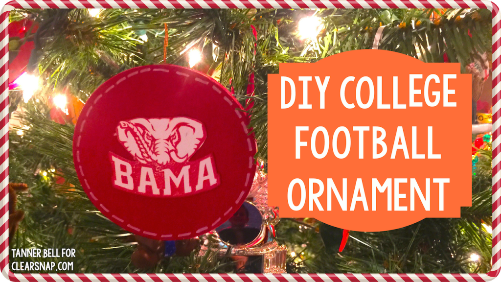 diy college football ornament a little craft in your daya little craft in your day - Christmas Day College Football