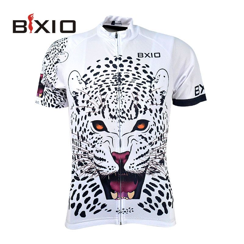 Bxio Cool Leopard Cycling Jersey Shirt Mountain Bike Clothing Summer Cool  Sportswear Short Sleeve For Man 51b51bc20
