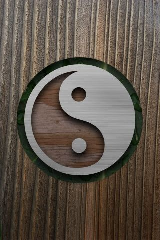 Wooden Ying Yang Android Wallpaper Hd Wallpaper En 2019
