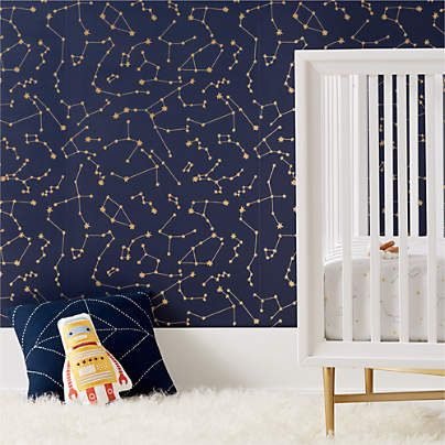 Chasing Paper Black And White New Moon Removable Wallpaper Reviews Crate And Barrel Kids Room Wallpaper Boys Room Wallpaper Room Wallpaper