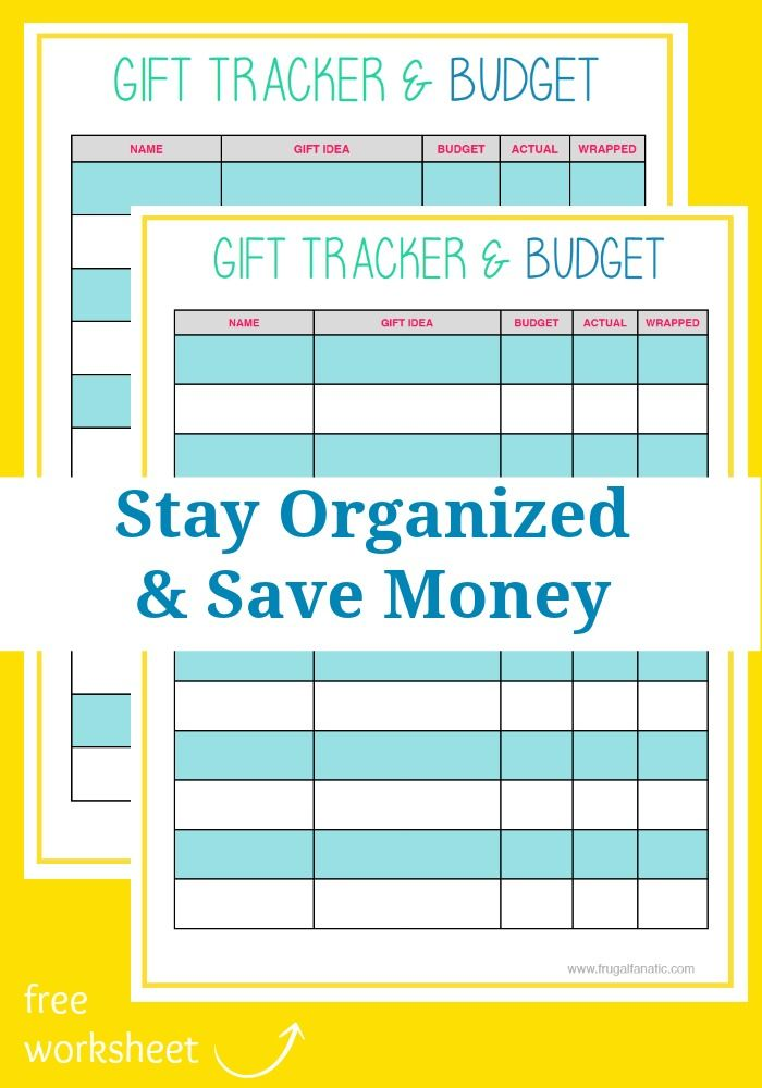 Easy Way to Save Money \u2013 Use a Gift List Free worksheets, Holidays - Financial Spreadsheet For Small Business