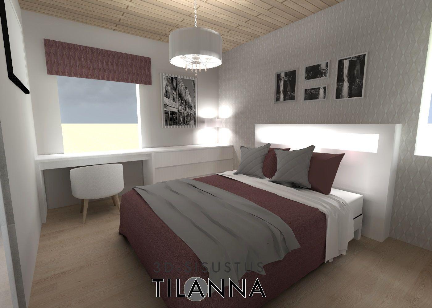 Modern Romantic Bedroom 3d Sisustussuunnittelu Moderni Romanttinen Makuuhuone Modern
