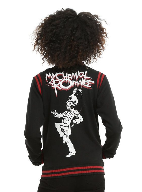 My Chemical Romance Black Varsity Girls Jacket, BLACK