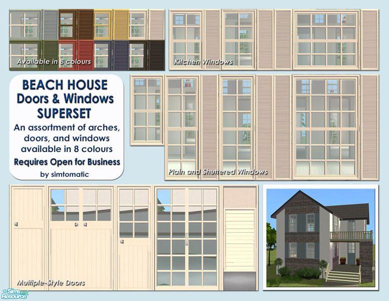 beach house doors and windows superset