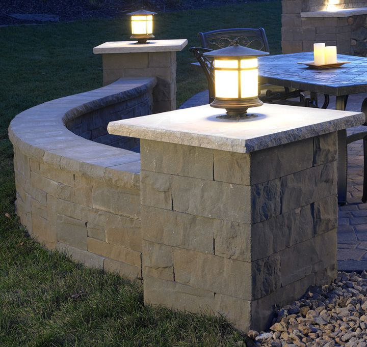 Great The Lights On This Sculpted Brisa Column Allow You To Enjoy More Time On  Your Patio