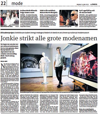 MOAM mode amsterdam 2012  Het Parool Martijn Nekoui