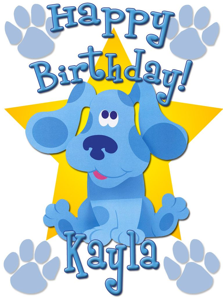 Custom Birthday T-shirt Blue\'s Clues