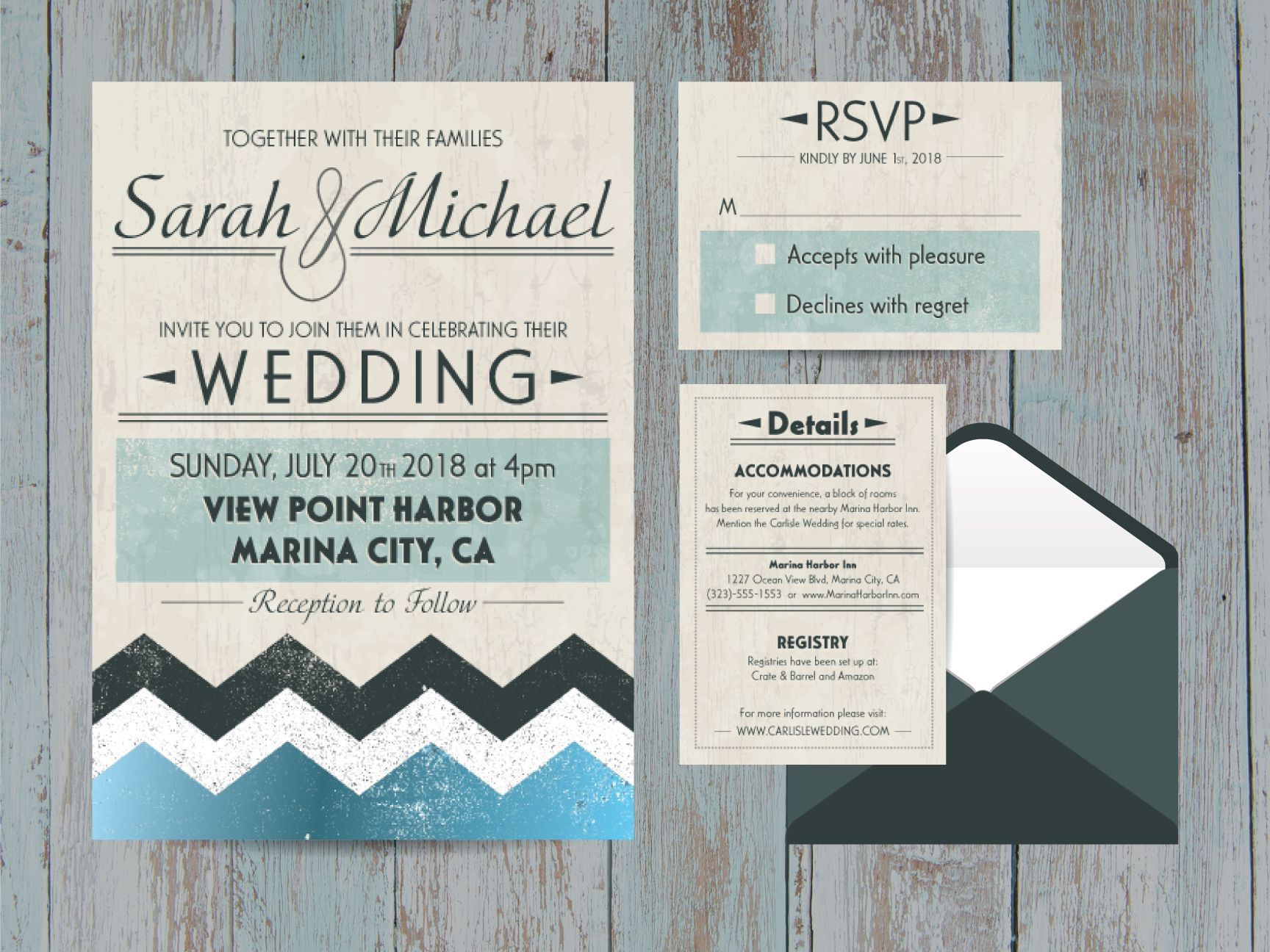 High Quality Beach Wedding Invitation DIY Printable Set  Aquatic Water Marine Event  Invites   Inexpensive   Custom Self Print Template A7 5x7   3.5x5 A1