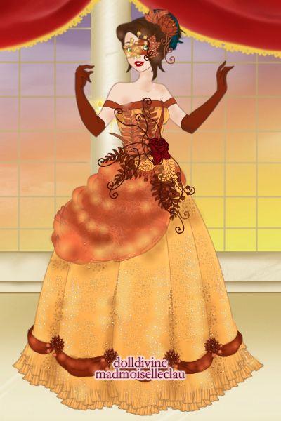 Fall Masquerade By Tothemoon Created Using The Princess Doll
