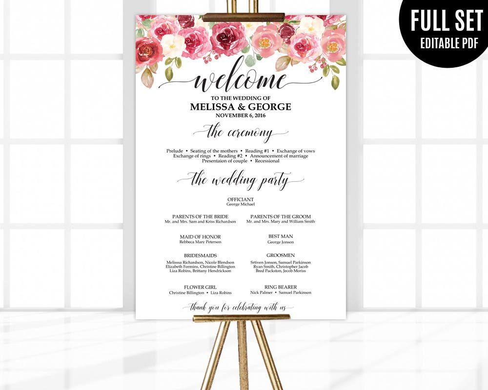 Großzügig Hochzeitsprogramm Wort Vorlage Ideen - Beispiel Business ...