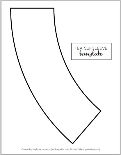 Home Made DIY Tea Cup Template
